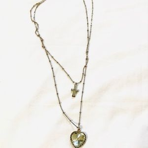 Betsey Johnson two chain necklace